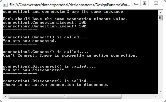 designpatternsworkbook_singleton_outputresult